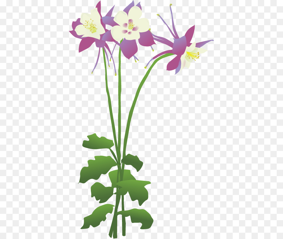 Columbine clipart picture freeuse stock Pink Flower Cartoon png download - 461*759 - Free Transparent ... picture freeuse stock