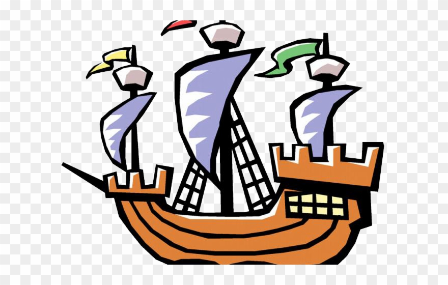 Columbus ships clipart graphic royalty free download Sailing Ship Clipart Labor Day - Easy Christopher Columbus Ship ... graphic royalty free download