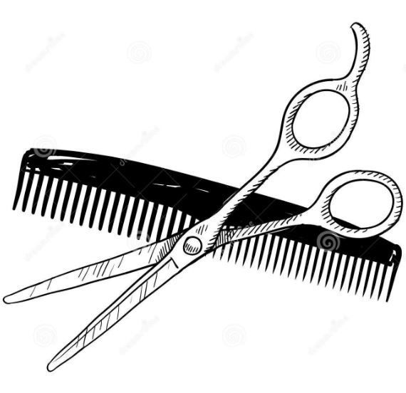 Comb and scissors clipart black and white picture freeuse stock Scissors Black And White | Free download best Scissors Black And ... picture freeuse stock