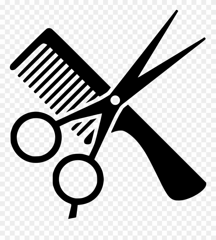 Comb and scissors clipart black and white freeuse stock Comb Hairdresser Beauty Parlour Barber Computer Icons - Comb And ... freeuse stock