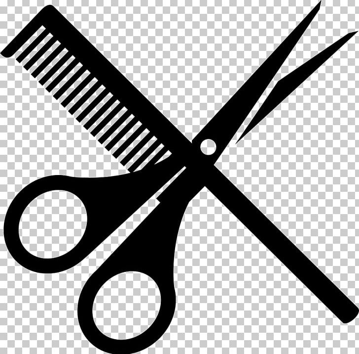 Comb and scissors clipart black and white svg library library Comb Scissors Hairdresser Hair-cutting Shears PNG, Clipart, Beauty ... svg library library
