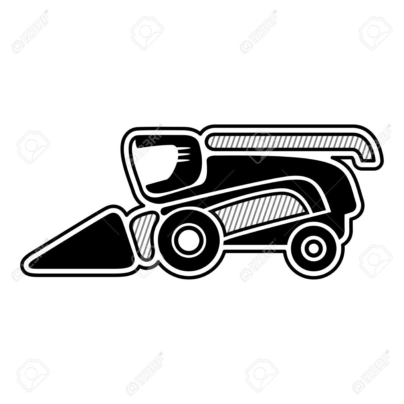 Combine harvester clipart black and white clipart library Combine harvester » Clipart Portal clipart library