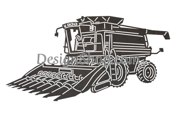 Combine harvester clipart black and white clipart library stock Combine Harvester DXF File for CNC clipart library stock