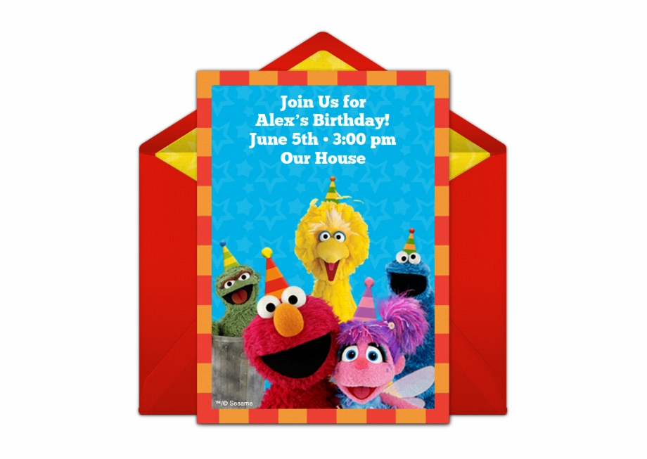Come and join us clipart birthday party clip stock Sesame Street Party Online Invitation - Celestia Pony Birthday ... clip stock