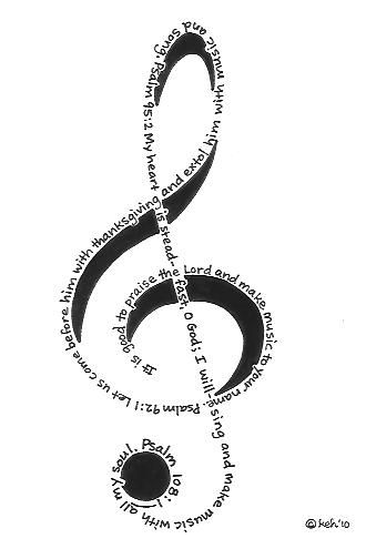 Come and praise black and white clipart clip art black and white download Treble Clef Psalms Psalm 92:1 It is good to praise the Lord and make ... clip art black and white download
