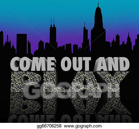 Come out and play clipart image royalty free stock Stock Illustration - Come out and play nightlife city skyline night ... image royalty free stock