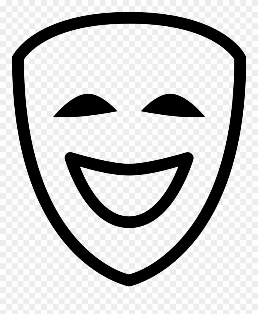 Comedy icon clipart banner royalty free library Theatre Mask Free Social Line - Comedy Icon Png Clipart (#1779427 ... banner royalty free library