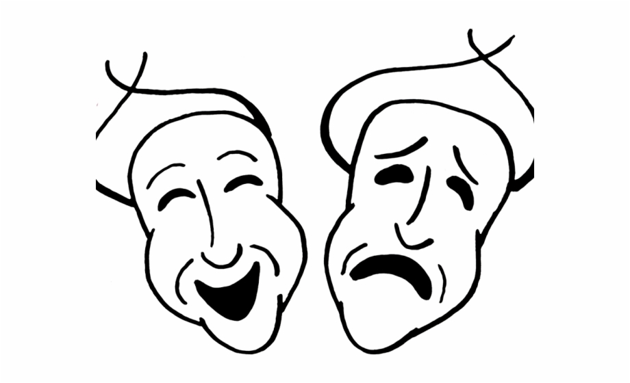 Comedy tragedy masks clipart free image freeuse Theater Masks Clipart - Comedy And Tragedy Masks Free PNG Images ... image freeuse