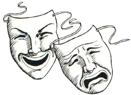 Comedy tragedy masks clipart free jpg black and white download Drama Masks Clipart | Free download best Drama Masks Clipart on ... jpg black and white download
