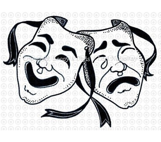 Free clipart comedy tragedy masks