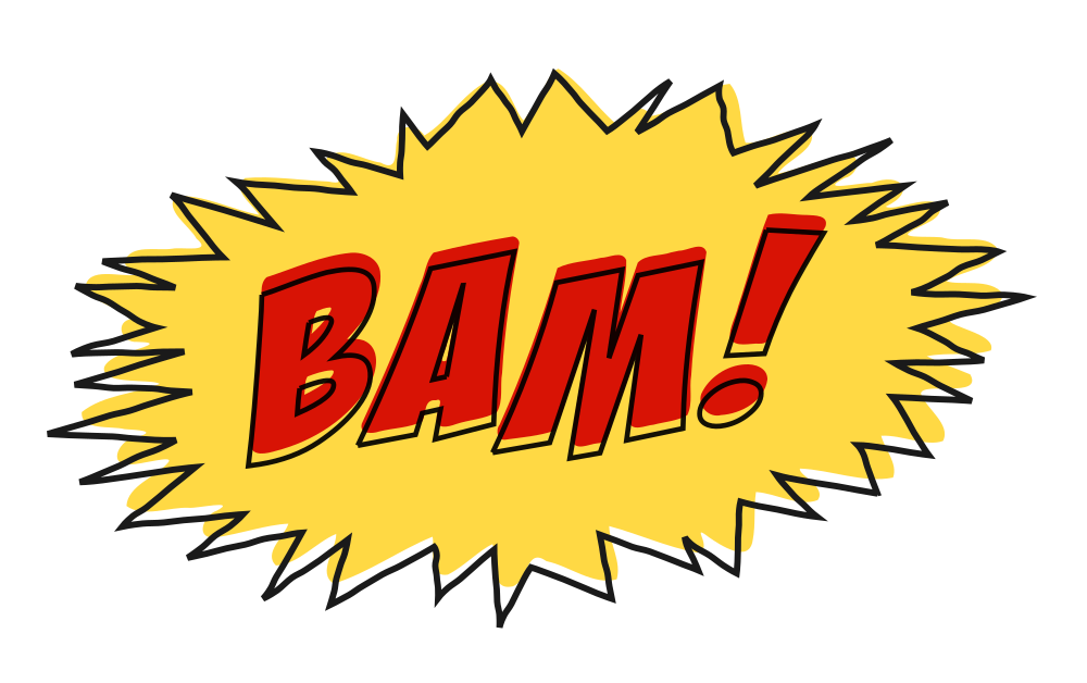 Comic book font clipart picture freeuse OnlineLabels Clip Art - Bam Comic Book Sound Effect No Background picture freeuse
