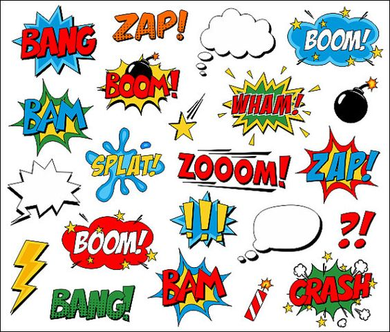 Comic book character clipart svg royalty free download Superhero Clipart Comic Book Clip Art Comic Text Speech Bubbles ... svg royalty free download