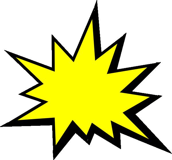 Comic book clipart free stock Yellow Comic Pow Clip Art at Clker.com - vector clip art online ... free stock