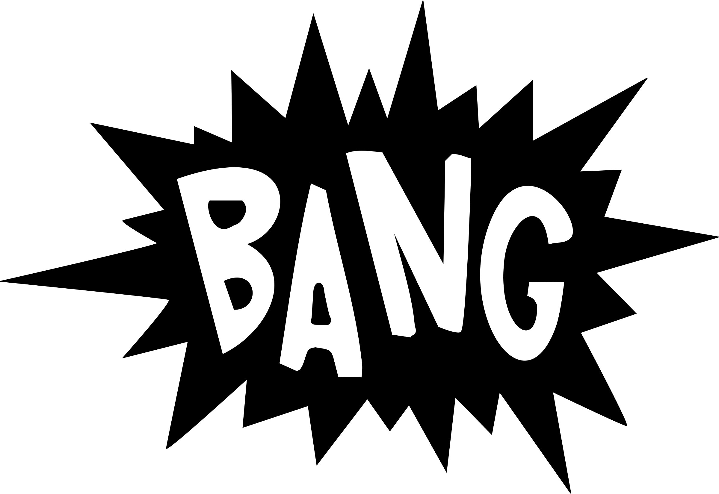 Comic book clipart black and white image download Bang 20clipart | Clipart Panda - Free Clipart Images image download
