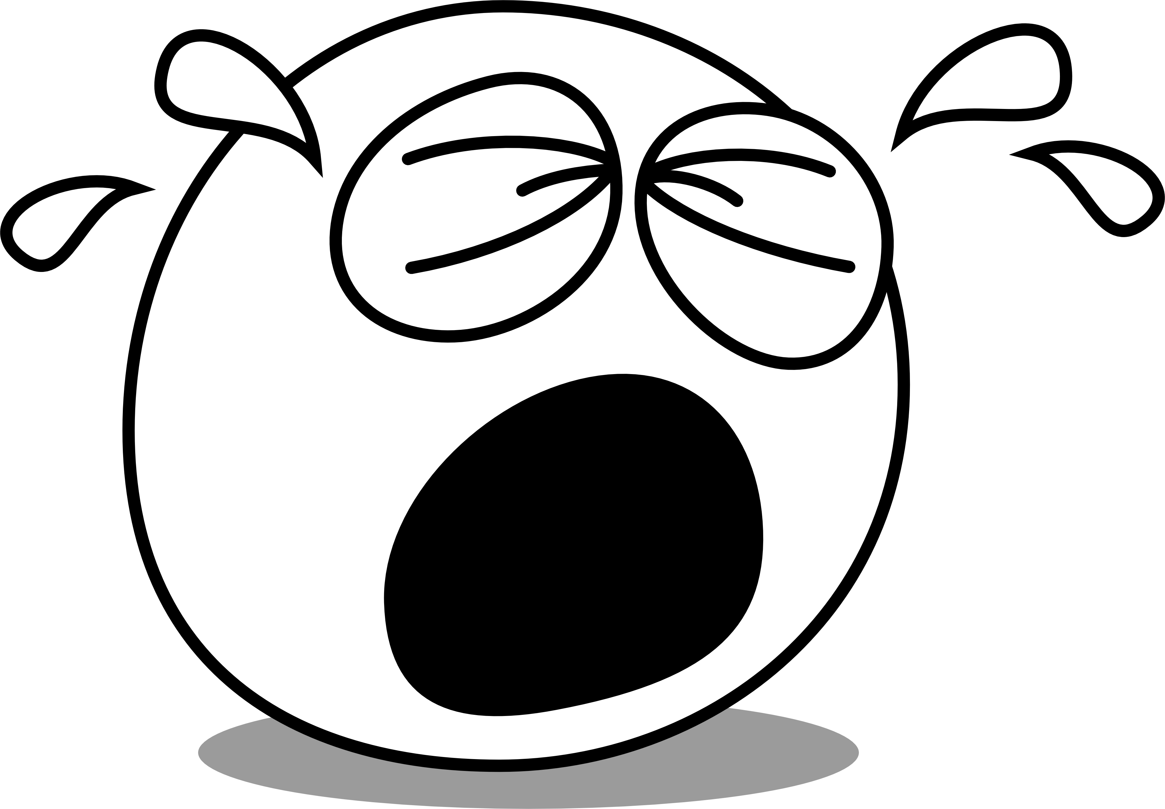 Comic book clipart black and white clip free File:Face eyes caricature comic cry how.png - Wikimedia Commons clip free