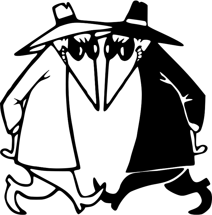 Comic book clipart black and white graphic stock Spy vs. Spy | Pinterest | Spy, Mad and Cartoon graphic stock