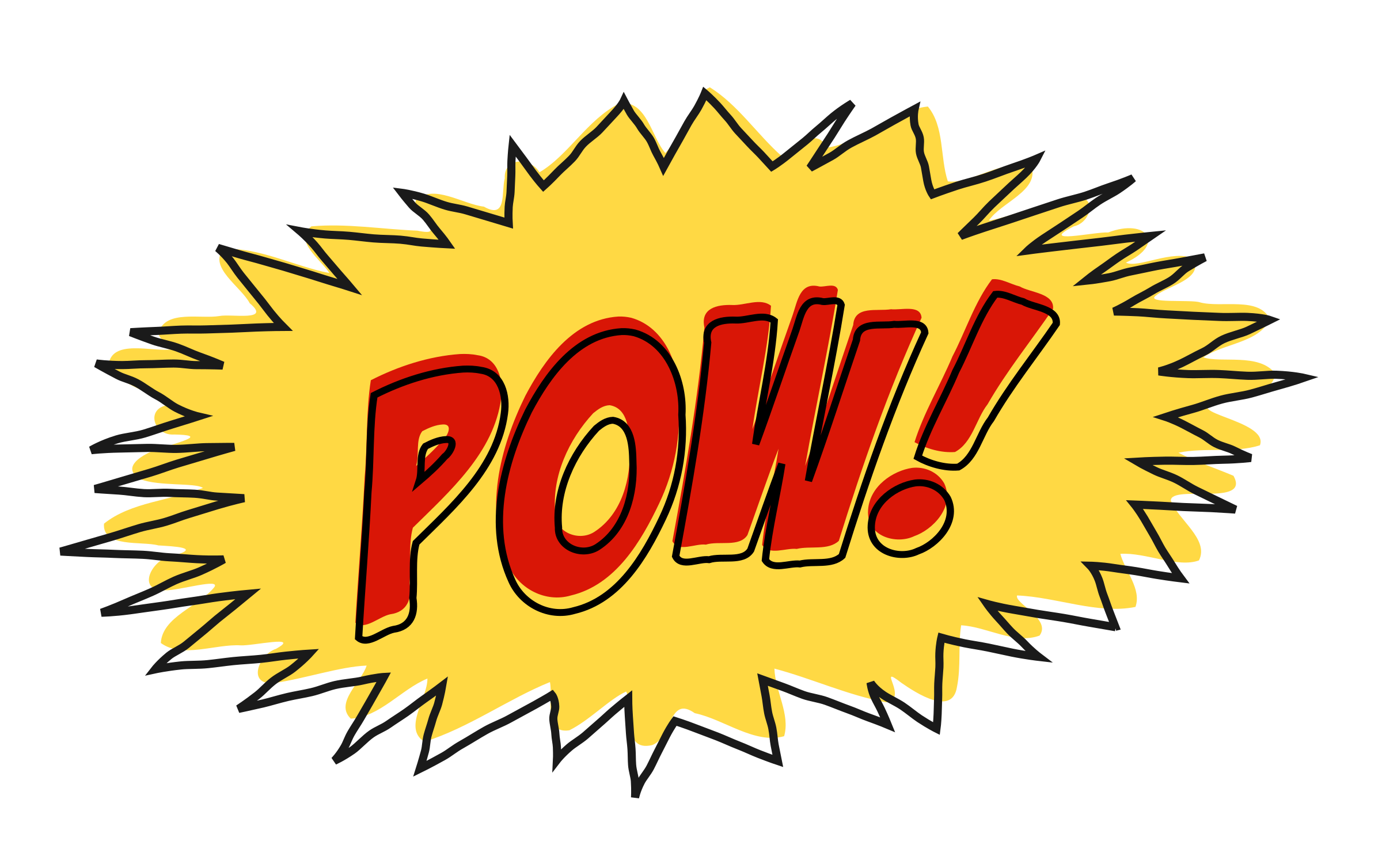 Comic book noises clipart clip black and white download Pow comic book sound effect no background Icons PNG - Free PNG and ... clip black and white download
