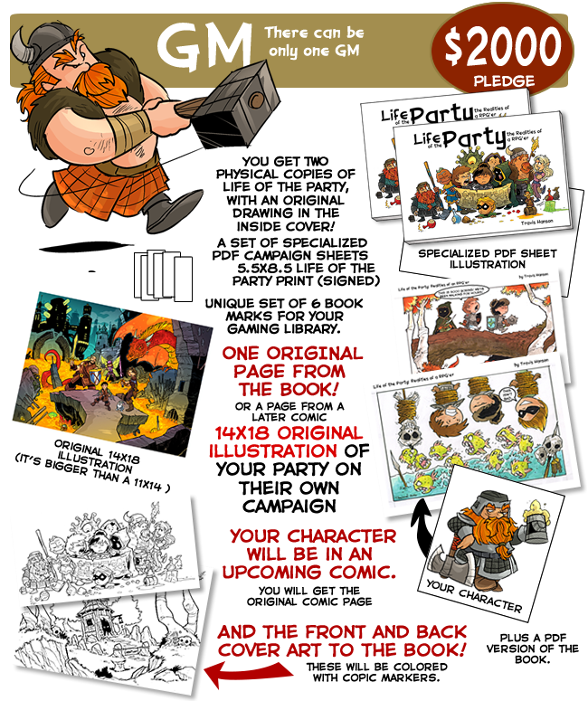 Comic book cover clipart vector transparent download Life of the Party: The Realities of an RPG'er by travis hanson ... vector transparent download
