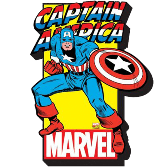 Comic book cover clipart graphic library Captain America Comic Book Magnet - ND-95136 by Zombies Playground graphic library