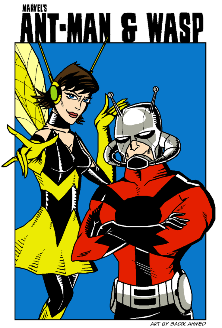 Comic book cover clipart graphic freeuse download Ant-Man and Wasp by TheDictator97 on DeviantArt graphic freeuse download
