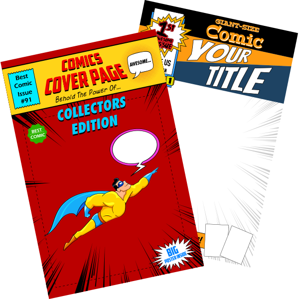 Comic book cover clipart picture freeuse stock Standard Comic Books   Comix Daddy The Comic Book Printer picture freeuse stock