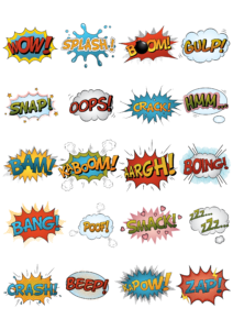 Comic book creator clipart svg library download Comic Book Creator Blank Squares Notebook with Color Quote Bubbles ... svg library download