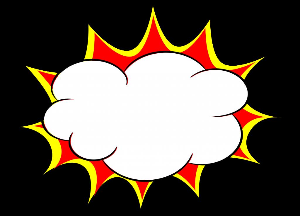 5 Comic Explosion Bubble (PNG Transparent, SVG Vector) | OnlyGFX.com clip transparent