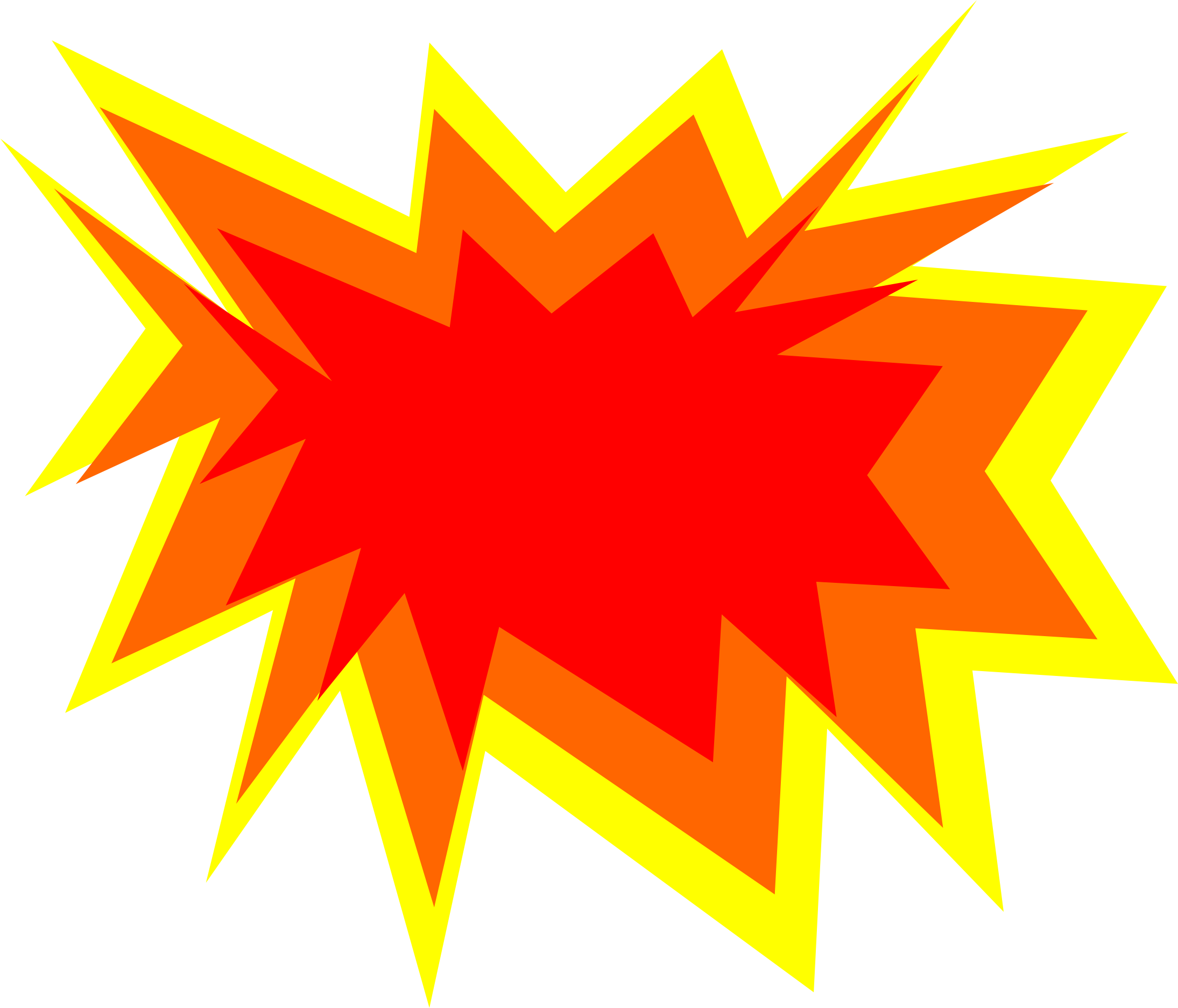 Exploding star clipart. Explosion free for download
