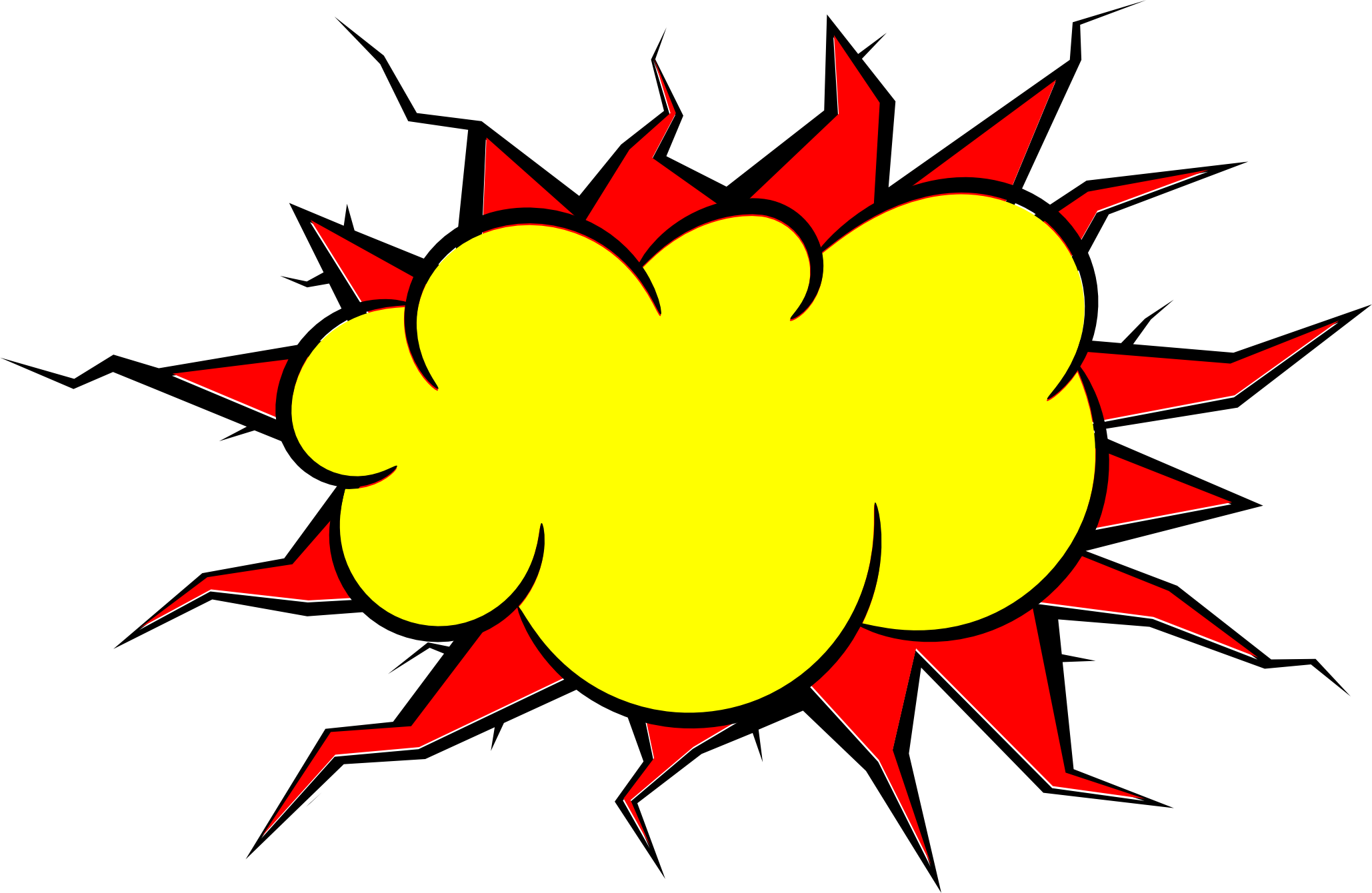 Comic book explosion clipart graphic library stock 5 Comic Explosion Bubble (PNG Transparent, SVG Vector)   OnlyGFX.com graphic library stock