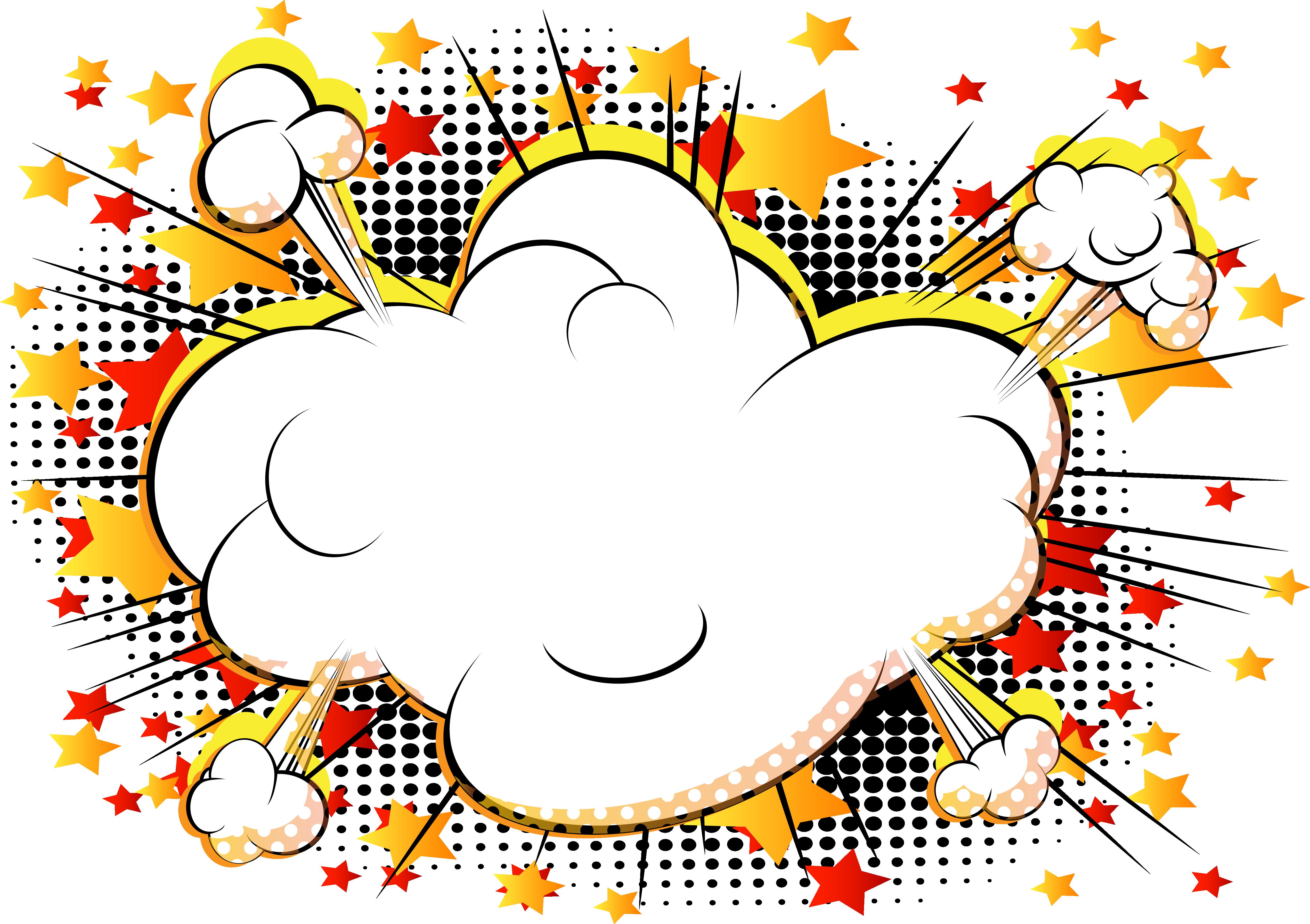 Comic book explosion clipart clip transparent stock Comics Cartoon Explosion Comic book - Vector cloud comics explosion ... clip transparent stock