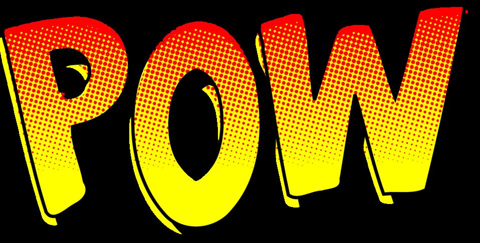 Comic book font clipart banner royalty free Public Domain Clip Art Image | POW vintage comic book sound effect ... banner royalty free