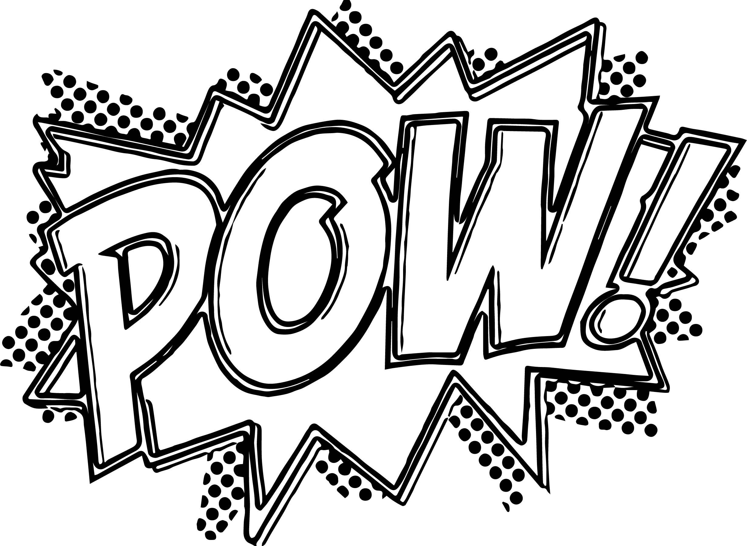 Comic book sounds clipart black and white for kids graphic freeuse Image result for comic book pow coloring page | color me | Batman ... graphic freeuse