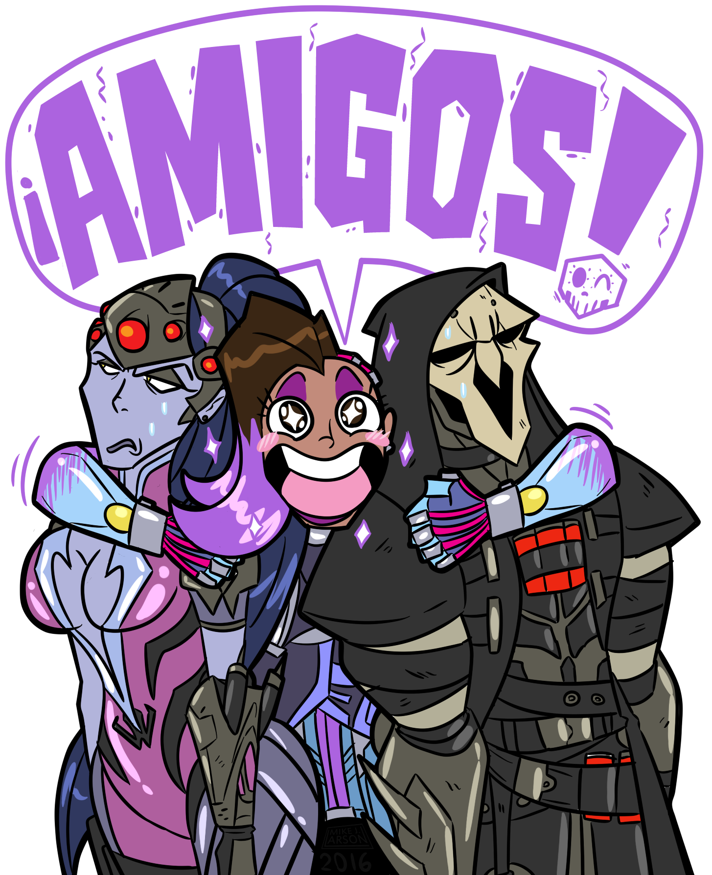 Comic book style lady laughing clipart image royalty free library Sombra loves everyone :) | Overwatch | Pinterest | Overwatch ... image royalty free library