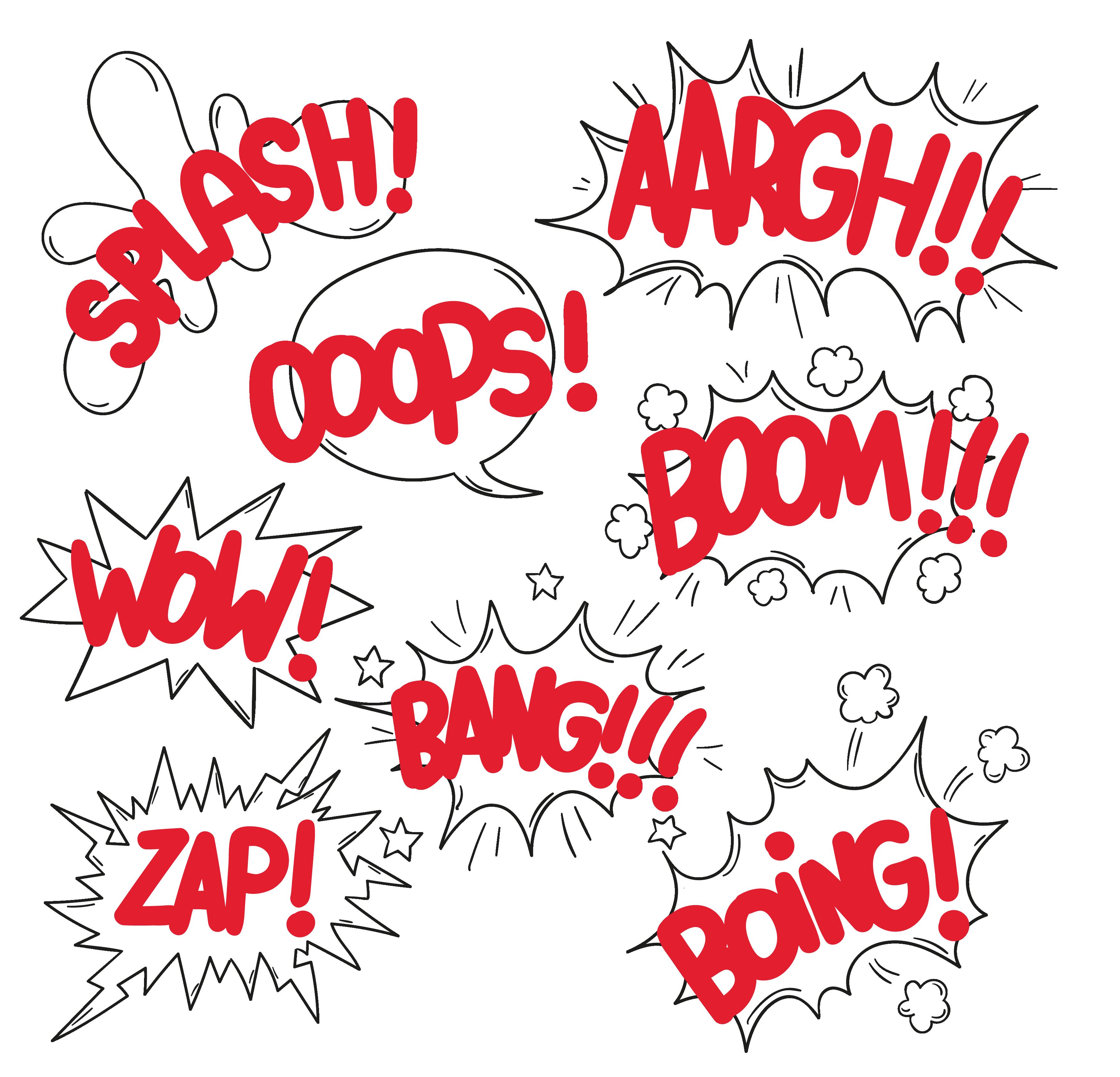 Comic book wow clipart clip free download Speech balloon Comics Onomatopoeia - Comics explosion cloud dialog ... clip free download