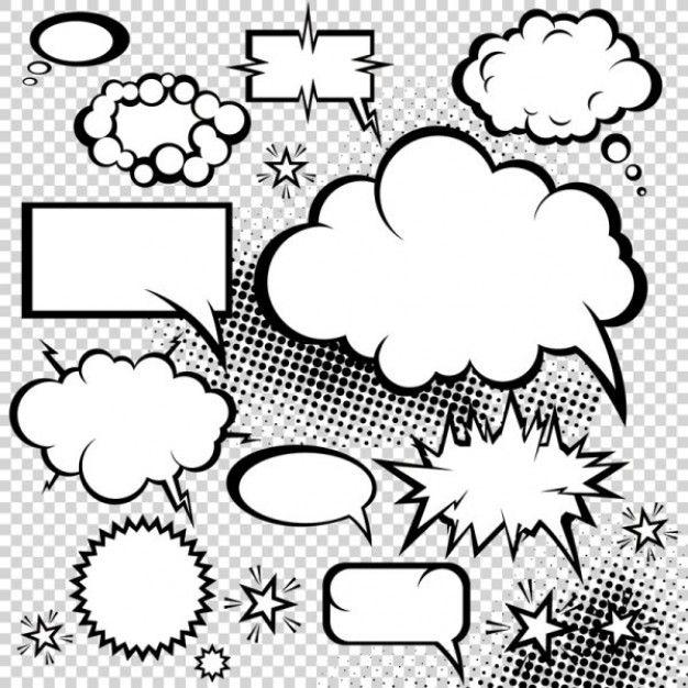 Comic dialog box clipart vector freeuse download mushroom cloud of the comic style dialog box vector | clouds | Comic ... vector freeuse download