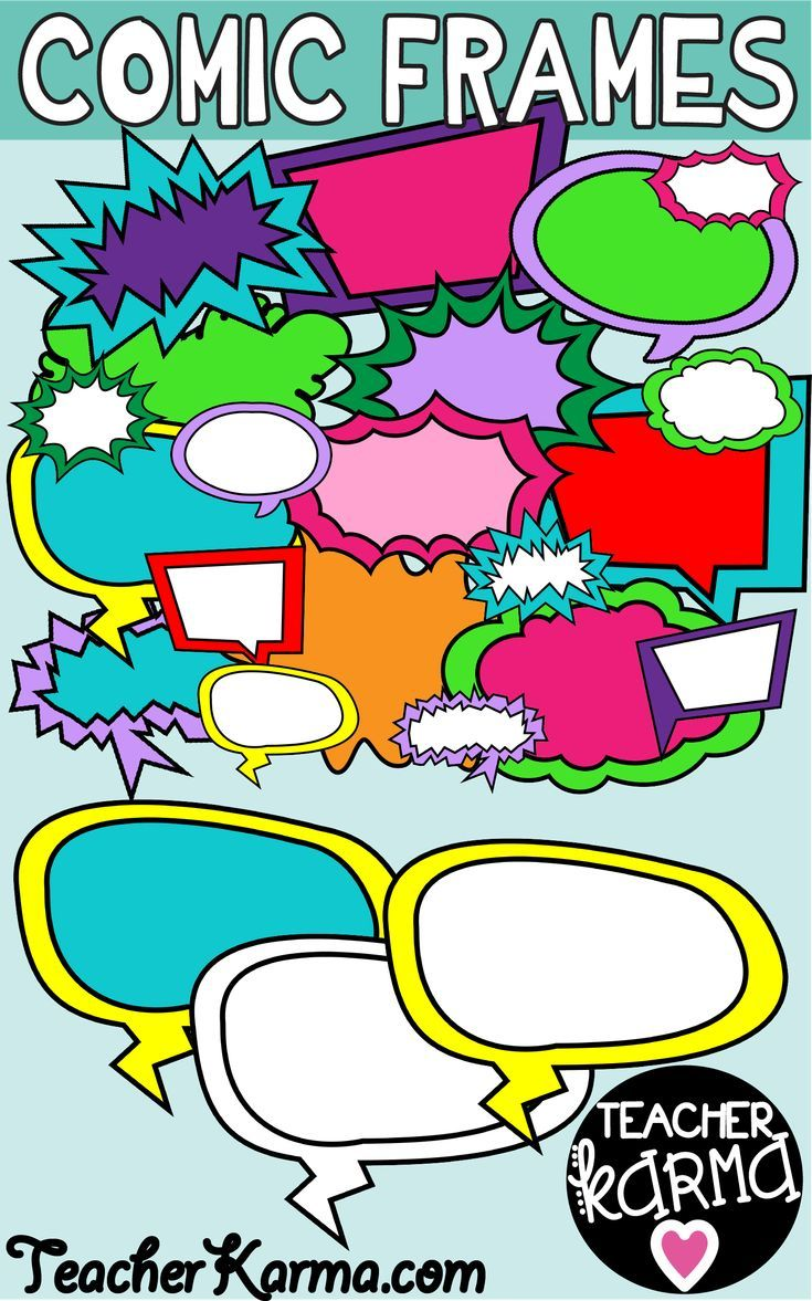 Comic frame clipart clip freeuse download Comic Frames, Comic Book Speech Bubbles | Cool Clipart | Comic frame ... clip freeuse download