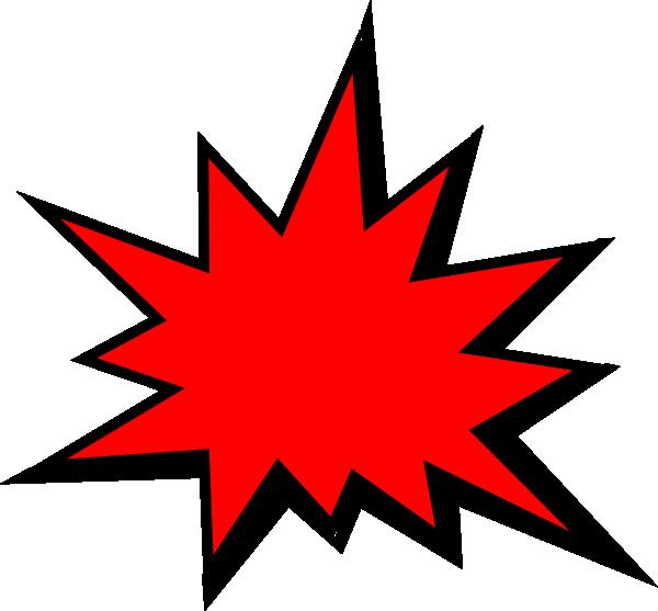 Red Comic Pow Clip Art at Clker.com - vector clip art online ... clipart stock