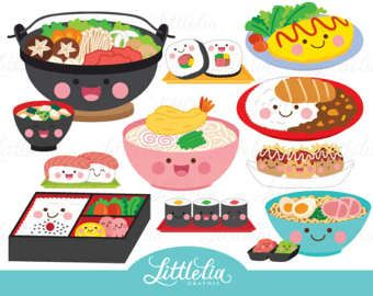 Comida clipart jpg black and white library Comida japonesa kawaii - clipart de comida japonesa - 17019 | Kawaii ... jpg black and white library