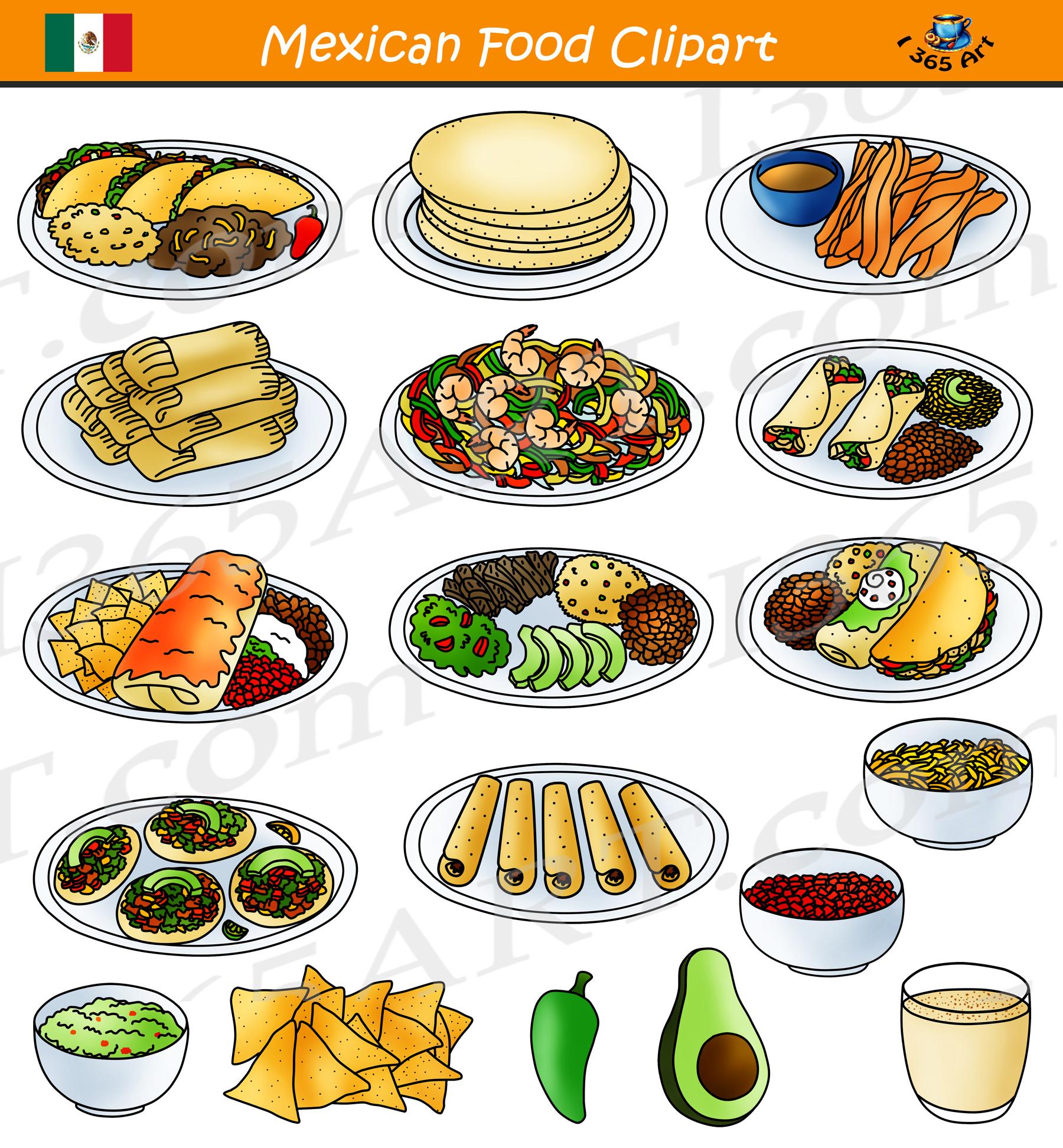 Comida clipart image freeuse stock Mexican Food Clipart - Comida Mexicana - School Clipart image freeuse stock