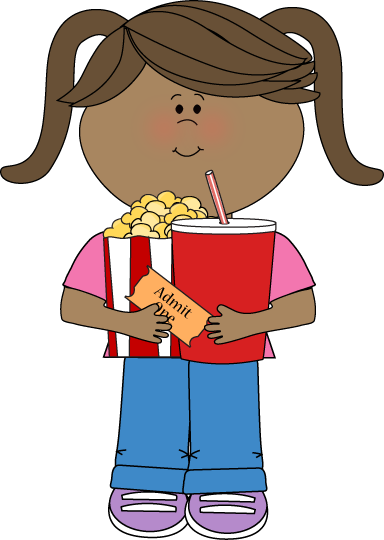 Coming to the movies clipart