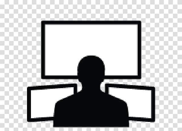 Command and control clipart banner royalty free stock Person watching three monitors , Network operations center Computer ... banner royalty free stock