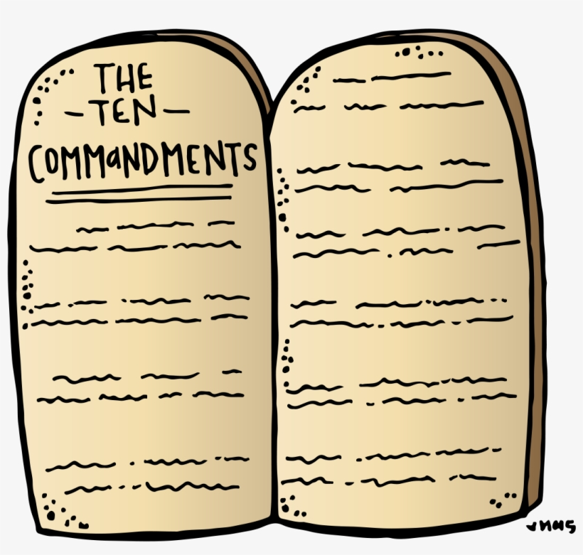 The 10 commandments clipart jpg stock Ten Commandments Stone Tablets Clipart - Ten Commandments Clipart ... jpg stock