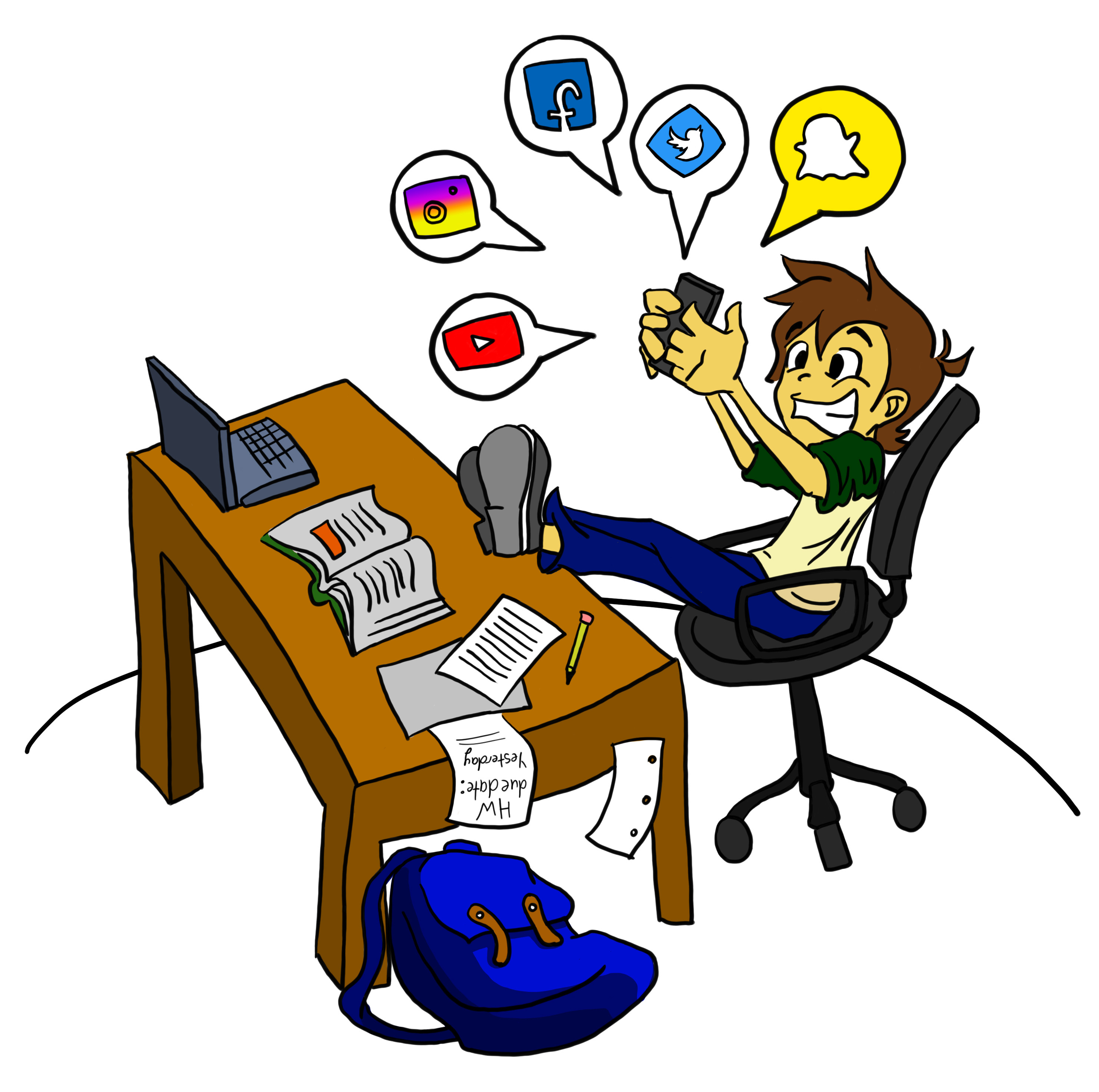 Commend clipart graphic royalty free stock Too Much Technology by psi_jaime - Commend Me! graphic royalty free stock