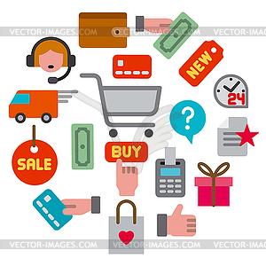 Commerce clipart vector E-commerce shop icon - vector clipart vector