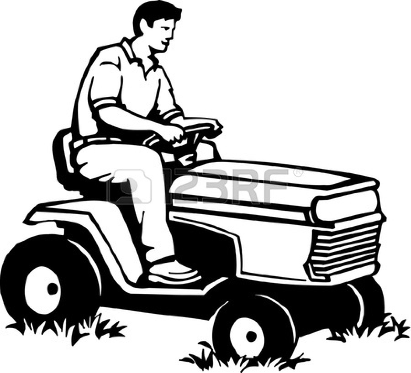 Riding lawn mower black and white with clipart picture library download Commercial Lawn Mower Clipart | Free download best Commercial Lawn ... picture library download