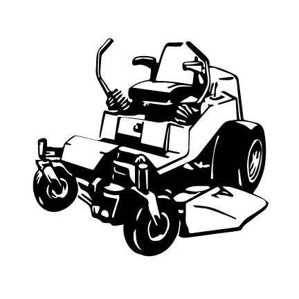 Commercial riding lawn mower clipart black and white vector black and white stock Lawn mower clipart zero turn - 27 transparent clip arts, images and ... vector black and white stock