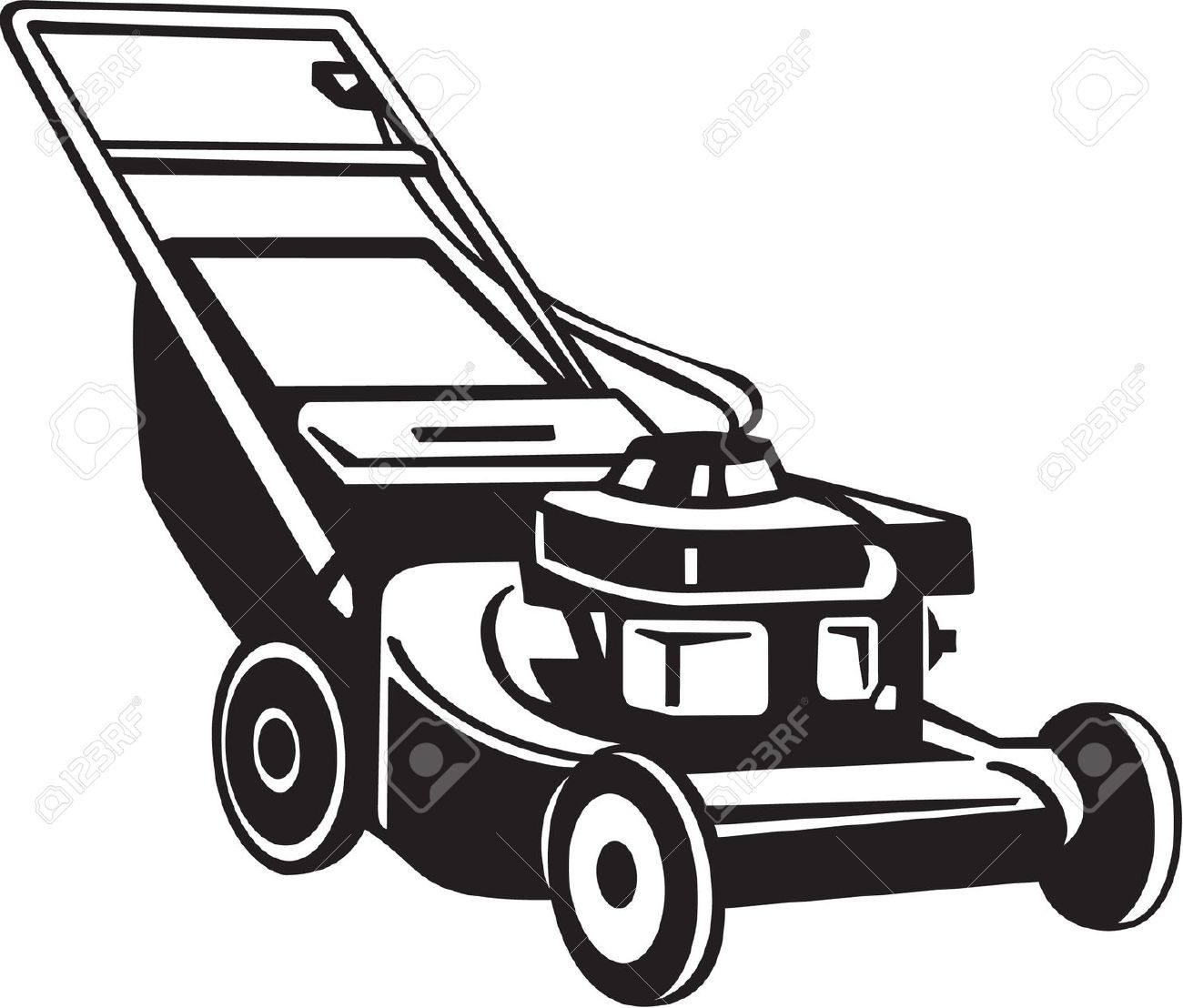 Commercial riding lawn mower clipart black and white jpg transparent library Commercial Lawn Mower Clipart | Free download best Commercial Lawn ... jpg transparent library