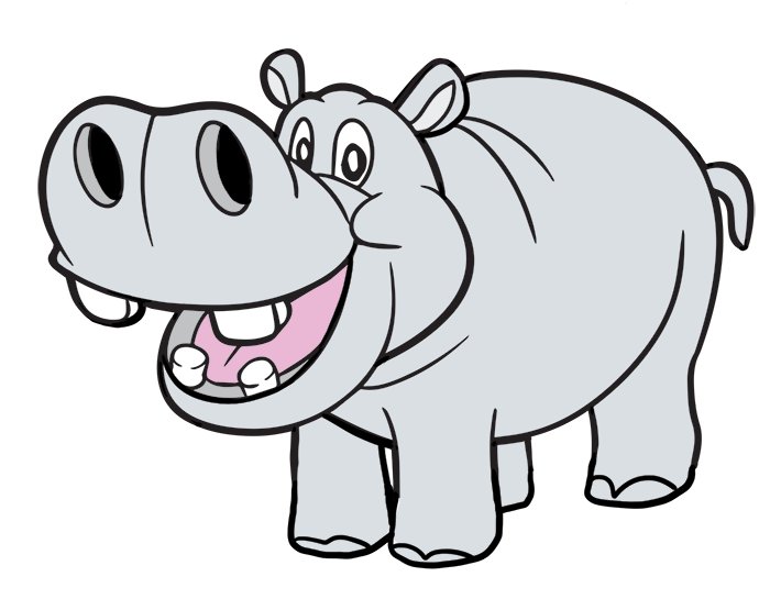 Free clipart for commercial use black and white download Hippopotamus Clip Art & Images - Free for Commercial Use | Kids ... black and white download