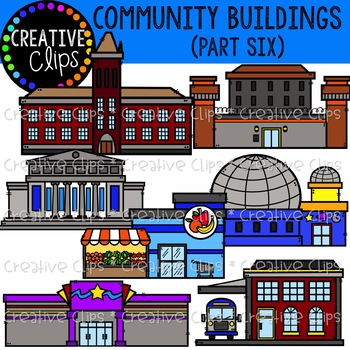 Community buildings clipart free picture royalty free download Community Buildings 6 {Creative Clips Clipart} picture royalty free download