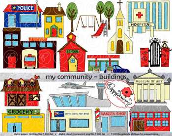 Community buildings clipart free clipart freeuse stock My Community Buildings Clipart by Poppydreamz clipart freeuse stock
